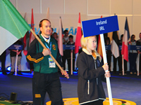 Paul carries the flag for Ireland